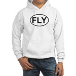 Fly Pilot Flying European Oval Hooded Sweatshirt