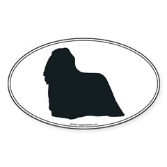 Komondor Silhouette Sticker (Oval)