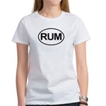 Rum Booze Alcohol Drink Oval Women's T-Shirt