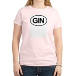 GIN Alcohol Booze Drink Oval Women's Light T-Shirt