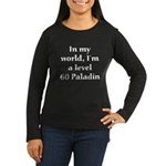 Level 60 Paladin Women's Long Sleeve Brown T-Shirt