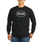 Run Runner Running Track Oval Long Sleeve Dark T-S