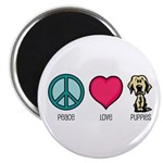 Peace Love & Labs Magnet