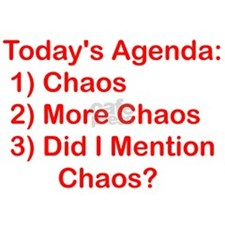 Today's Agenda Chaos Decal Sticker