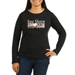 Bay Shore Women's Long Sleeve Dark T-Shirt
