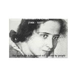 Philosopher: Hannah Arendt Rectangle Magnet (100 p