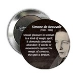 Simone De Beauvoir Button