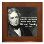Michael Faraday Framed Tile