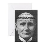 Philosopher: Alfred Whitehead Greeting Cards (Pack