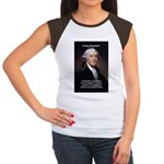 Politics: George Washington Women's Cap Sleeve T-S