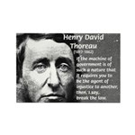 Philosophy / Nature: Thoreau Rectangle Magnet