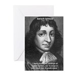 Philosopher Baruch Spinoza Greeting Cards (Package