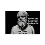 Socrates: Wisdom from Leisure Rectangle Magnet (10