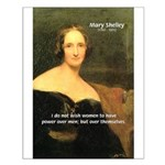 Novelist Mary Shelley Small Poster