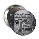"Playwright William Shakespeare 2.25"" Button (100 p"