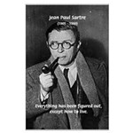 Existentialist Jean-Paul Sartre Large Poster