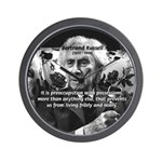 Bertrand Russell Philosophy Wall Clock