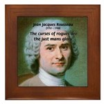 French Philosopher Rousseau Framed Tile