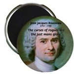 "French Philosopher Rousseau 2.25"" Magnet (100 pack"