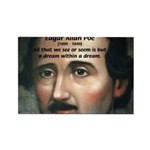 Writer Edgar Allan Poe Rectangle Magnet (100 pack)