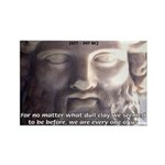 Dialogues of Plato Poet in Love Rectangle Magnet (