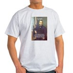 Louis Pasteur: Science Humanity Ash Grey T-Shirt