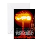 Atomic Bomb: Oppenheimer Greeting Cards (Package o