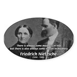Nietzsche Love Madness Reason Oval Sticker
