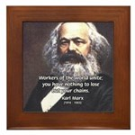 Union of Workers: Marx Framed Tile