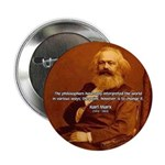 """Power of Change Karl Marx 2.25"""" Button (100 pack)"""