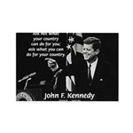 Famous Quote from JFK Rectangle Magnet (100 pack)