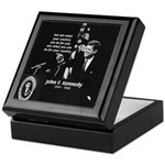 Famous Quote from JFK Keepsake Box