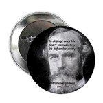 "William James Life and Change 2.25"" Button (10 pac"