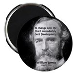 "William James Life and Change 2.25"" Magnet (10 pac"