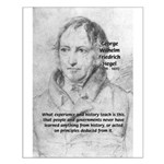 History Lessons Georg Hegel Small Poster