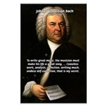 Composer J.S. Bach Large Poster