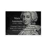 Courage Marie Antoinette Rectangle Magnet
