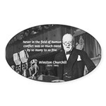World War II Churchill Oval Sticker
