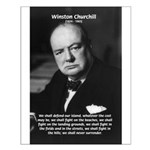 World War 2 Churchill Small Poster