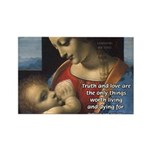 Woman and Child: Da Vinci Rectangle Magnet
