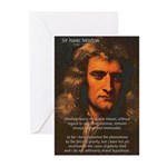 Sir Isaac Newton Space Greeting Cards (Package of