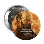 Cezanne Famous Paris Quote Button