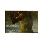 Goya Colossus Fantasy Quote Rectangle Magnet (10 p