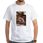 Michelangelo Perfection Quote White T-Shirt
