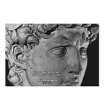 David with Michelangelo Quote Postcards (Package o