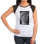 David with Michelangelo Quote Women's Cap Sleeve T