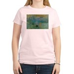 Claude Monet Torture Art Women's Pink T-Shirt
