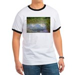 Monet Painting: Beauty Quote Ringer T