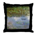 Monet Painting: Beauty Quote Throw Pillow