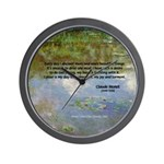 Monet Painting: Beauty Quote Wall Clock